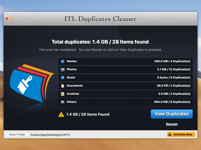 ITL Duplicates Cleaner full screenshot