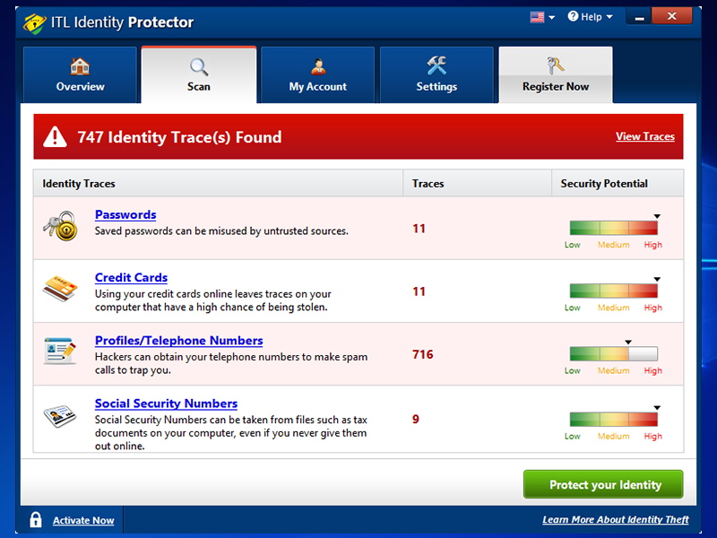 ITL Identity Protector full screenshot